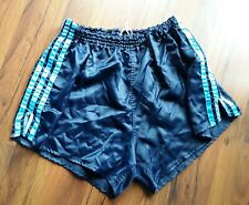 Adidas Shorts Vintage Glanzshorts Nylon Glanz blau Gr. 7  D7 L Retro Klassiker