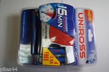 Chargeur Uniross Sprint 15 15 Minutes AA AAA + 6 Accu AA Ni-Mh 1.2V 2100mah Pile