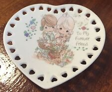 Precious Moments To My Forever Friend Mini Heart Plate 1993 Enesco