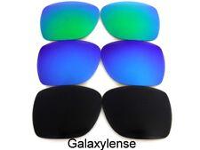 Galaxy Replacement Lenses For Oakley Crossrange Sunglasses Black/Blue/Green