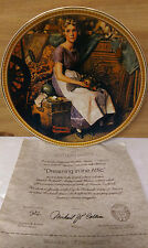 Dreaming in the Attic Knowles Norman Rockwell Collector Plate