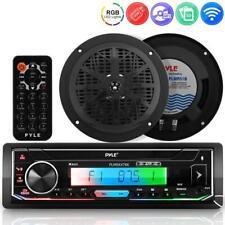Pyle PLMRK47BK AM/FM/MP3/USB/AUX/SD Card Reader SingleDIN Marine Stereo Receiver