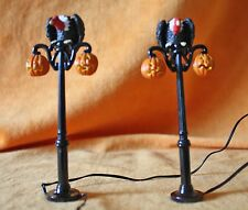 "2001 retired DEPARTMENT 56 HALLOWEEN COLLECTION ""GOTHIC STREET LAMPS"" SET OF 2"