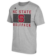 NCAA Men's Adidas NC State Wolfpack Big Pattern Short Sleeve Go To Tee Size L