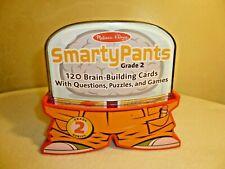 SmartyPants Grade 2 Genius Game 120 Brain Building Cards Melissa & Doug -New