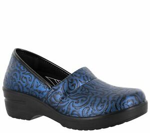 Easy Works by Easy Street Women Slip On Clogs Laurie Faux Leather