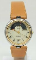 Orologio Bulova moon phase vintage watch 80s very rare clock 32 mm montre reloj