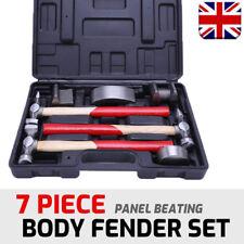 7PC Car Auto Body Panel Repair Tool Kit w/ Wooden Handles Beating Hammers UKT