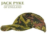 Jack Pyke Camo Wildfowlers Cap One Size LED Headlight Hunting Hat Shooting