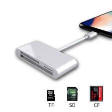 Camera Connection Kit USB CF TF SD Card Reader for iPhone X XS XR 8 7 6 iPad IOS