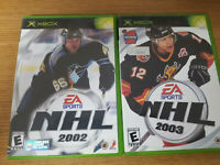 Lot of 2 Xbox NHL Hockey Games NHL 2002 & NHL 2003 Video Games Complete