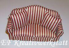 1:12 elegantes Sofa mit 2 Kissen FL0488 für die Puppenstube 14cm breit