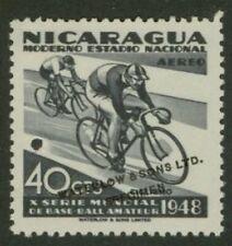 Nicaragua 1949 Cycling 40c Waterlow sample in grey