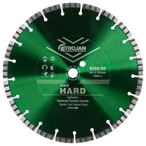 Trojan Pro Hard Diamond Blade Cutting Disc for Hard Concrete, Brick, Stonework