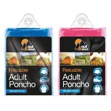 Reusable Plastic Poncho Adult Waterproof Poncho Camping Festival Walkin Rain Coa