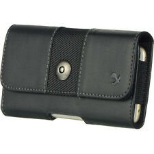 Premium black PU leather pouch belt loops holster For iPhone 7 plus/ 6