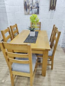 Solid Oak Extending Dining Table 6 Chairs, Great Condition,Free Delivery 🚚