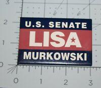 "Vintage ALASKA Political Pins LISA MURKOWSKI US SENATE 3"" x 2"" Heavy Vinyl"