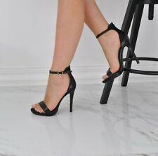 Sandalo Donna Nero con Tacco Alto Tulip