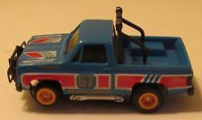 Tomy Turbo Devil's Ditch Blue GMC Pickup Truck, Runs