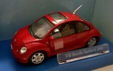 CARARAMA 1:43 AUTO DIE CAST VOLKSWAGEN BEETLE TURBO S 2002 ROSSO ART 432D