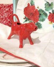 "The Pioneer Woman Flea Market Red Stoneware Cow Creamer 6"" Nwt Farmhouse Decor"