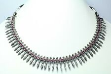 Handmade Sterling Silver Tribal Traditional Red Onyx Necklace Earring