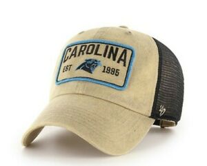Carolina Panthers 47' Brand Clean Up Adjustable snapback Hat cap new nwt khaki
