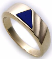 Men's Ring Genuine Gold 333 Real Lapis All Stones Possible Yellow Quality N8453