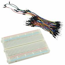 400 Point sans Soudure PCB Breadboard + 65pcs Fil De Raccordement Câbles