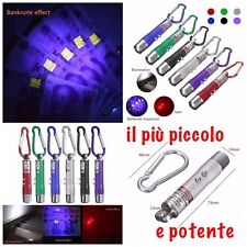 Mini Portatile 3In1 Laser Pointer LED Torcia Elettrica UV Portachiavi Puntatore