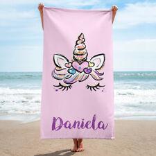 Personalized Unicorn Beach Towel, Custom Unicorn Gift, Unicorn Lover Present