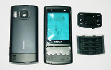 Full Black Housing case facia cover faceplate Fascia for Nokia 6700s 6700 Slide