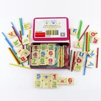 Wooden Montessori Mathematics Material Early Learning Counting Toy for Kids Baby