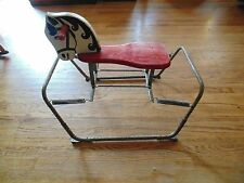 Vintage Child's Boucing Spring Ride-On Rocking Horse Toy