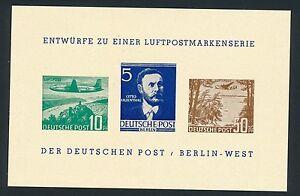 75894) Vignetten-Block Luftpostserie 1949, BEPHILA BERLIN 1957 Lilienthal
