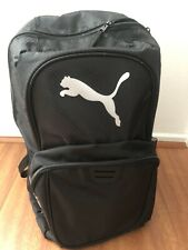 PUMA BACKPACK Black Silver Polyester Back-Pack Logo Bag Unisex Bookpack New