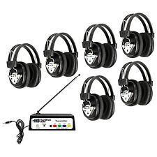 HAMI-W906MULTI-Hamilton Buhl Wireless Listening Center, 6 Station with Headphon