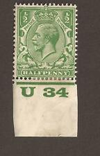GB Edward VII  SG 351 (MH) as scan with selvage, dated 1934? (lined background)