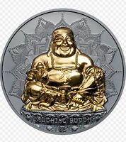 2017 LAUGHING BUDDHA 2oz Silver Proof Coin