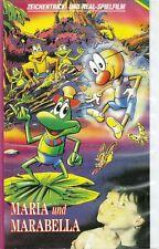 Maria und Marabella Zeichentrick- und Real- Spielfilm VHS Videokassette