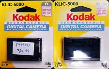NEW 2 Genuine Kodak KLIC-5000 1150mAh Li-Ion Camera Batteries / Battery