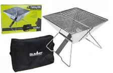 Stainless Steel Folding Barbeque Portable Camping Grill Space Saving BBQ