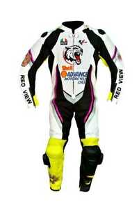 RED VIEW MOTORBIKE MOTORCYCLE LEATHER RACING MOTOGP SUIT ALL SIZE AVALIBLE
