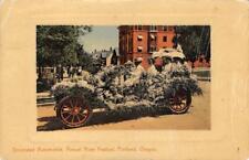 Decorated Automobile, Annual Rose Festival, Portland, OR 1912 Vintage Postcard