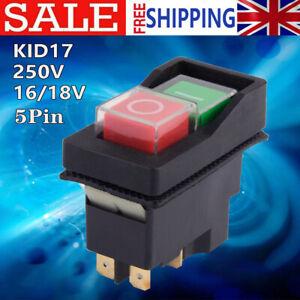 250V KJD17F IP54 5-Pin Start/Stop No Volt Release Switch for Workshop Machines