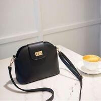 Fashion Shoulder Messenger Crossbody Bags Leather Women Satchel Lock Shell Bag