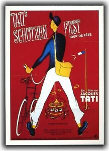 TATIS SCHÜTZENFEST ♦ 1947 ♦ CINEMA Filmkarte Karte ♦ Jacques Tati ♦ Guy Decomble