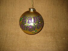 Happy Mardi Gras 4in Ball Christmas Tree Ornament Midwest Cbk