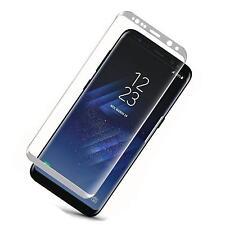 Samsung Galaxy S8 Panzerfolie Schutzfolie Echt Glas Displayfolie Curved Silber
